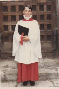 Me, aged 12. chorister at Westminster Abbey.  I started there at the age of 8.