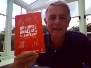 Michael Brown with his copy