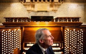 This is Simon Preston, sitting at the Westminster Abbey organ.  He awarded me the scholarship.  Top man.